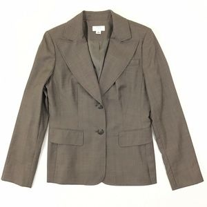 Ann Taylor Loft Career Blazer Size 6 Women's Brown